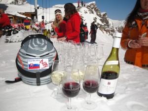 Ochutnávka vína na svahu