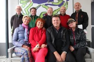 Skupina golfových novinárov v Sedíne.