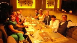 Večerra s prezidentom SKGA Tomášom Stoklasom.